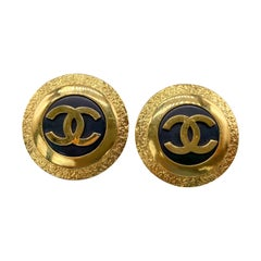 CHANEL Earrings Vintage 1980s Clip On 1987 Collection
