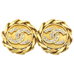 CHANEL Earrings Vintage 1980s Clip On