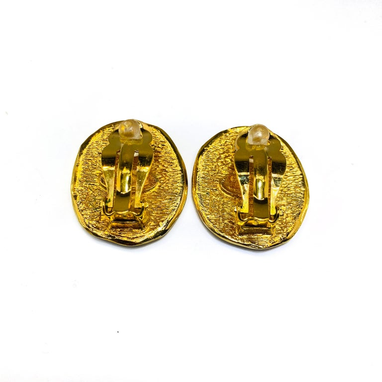 CHANEL Earrings Vintage 1980s In Excellent Condition For Sale In London, GB