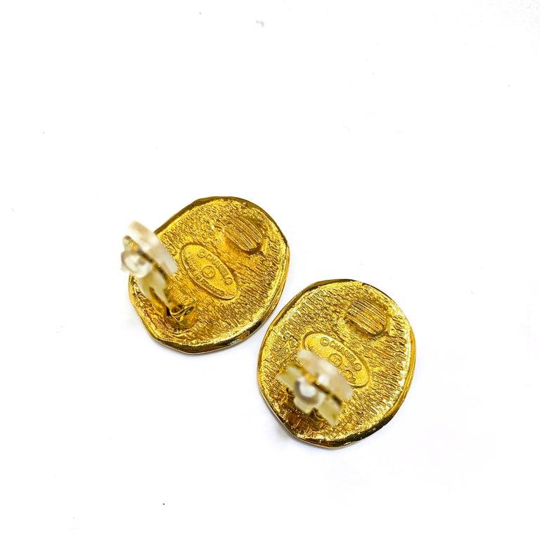 Women's CHANEL Earrings Vintage 1980s For Sale