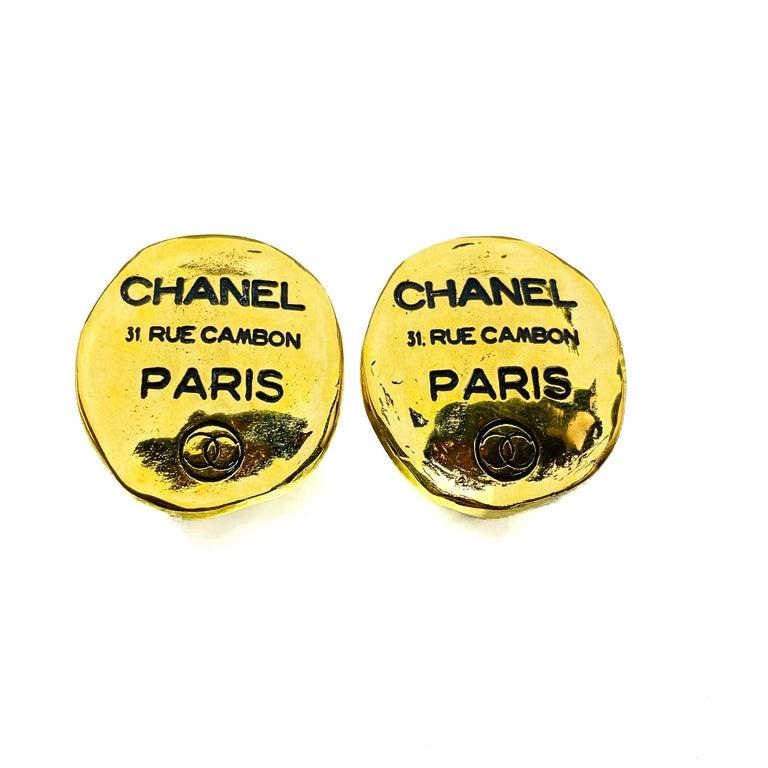 CHANEL Earrings Vintage 1980s For Sale 2