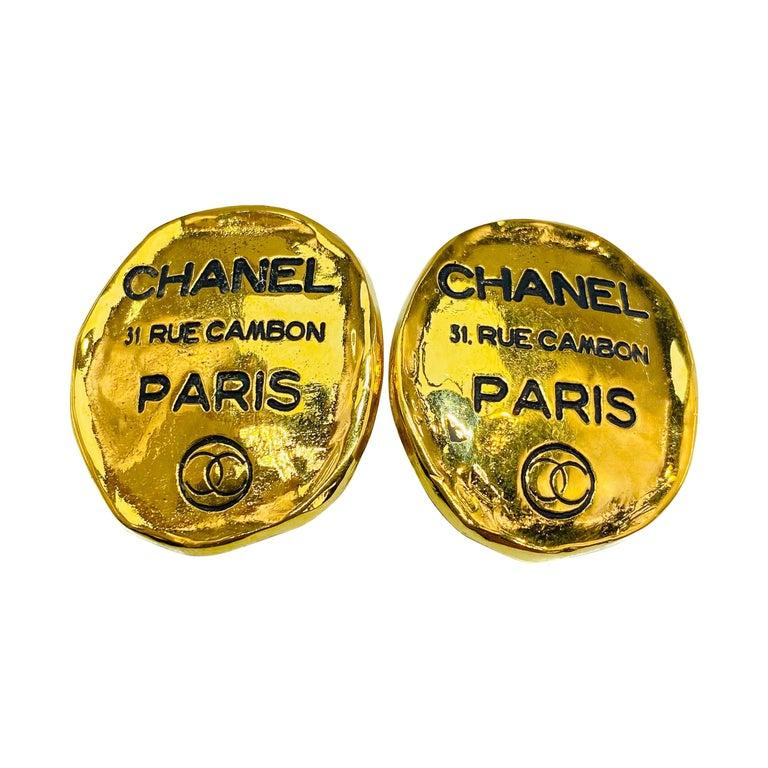 CHANEL Earrings Vintage 1980s For Sale