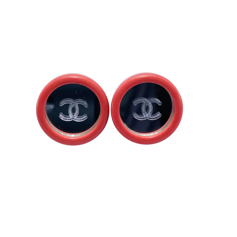CHANEL Earrings Vintage 1990s Clip On For Sale