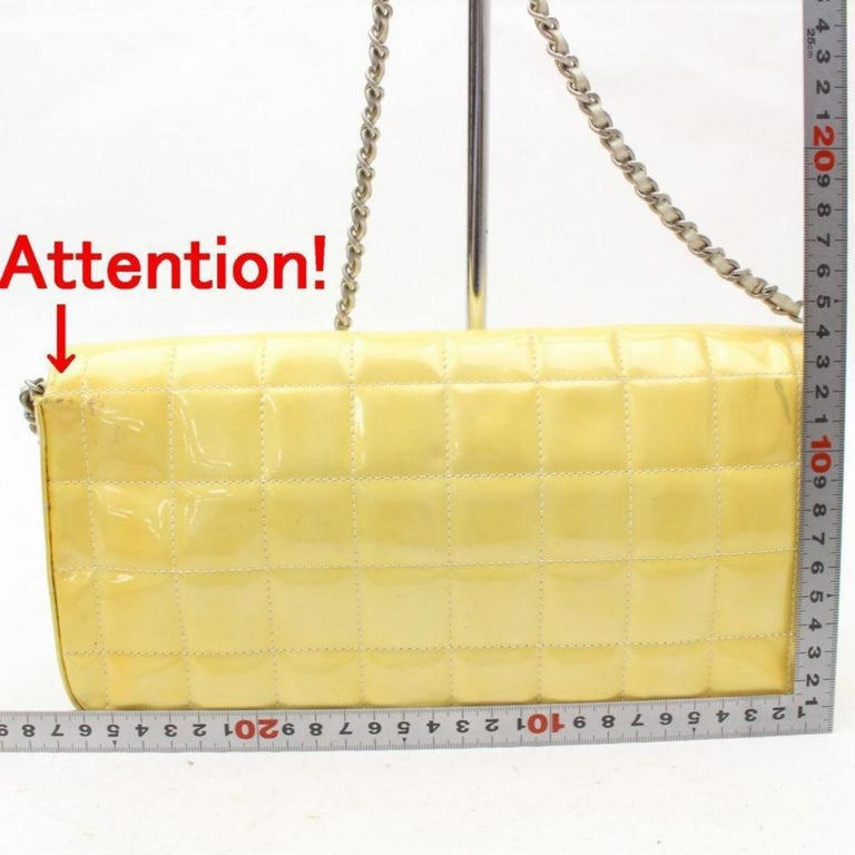 bcc38b09bf75 Chanel East West Quilted Chocolate Bar Flap 869289 Yellow Shoulder Bag For  Sale 4