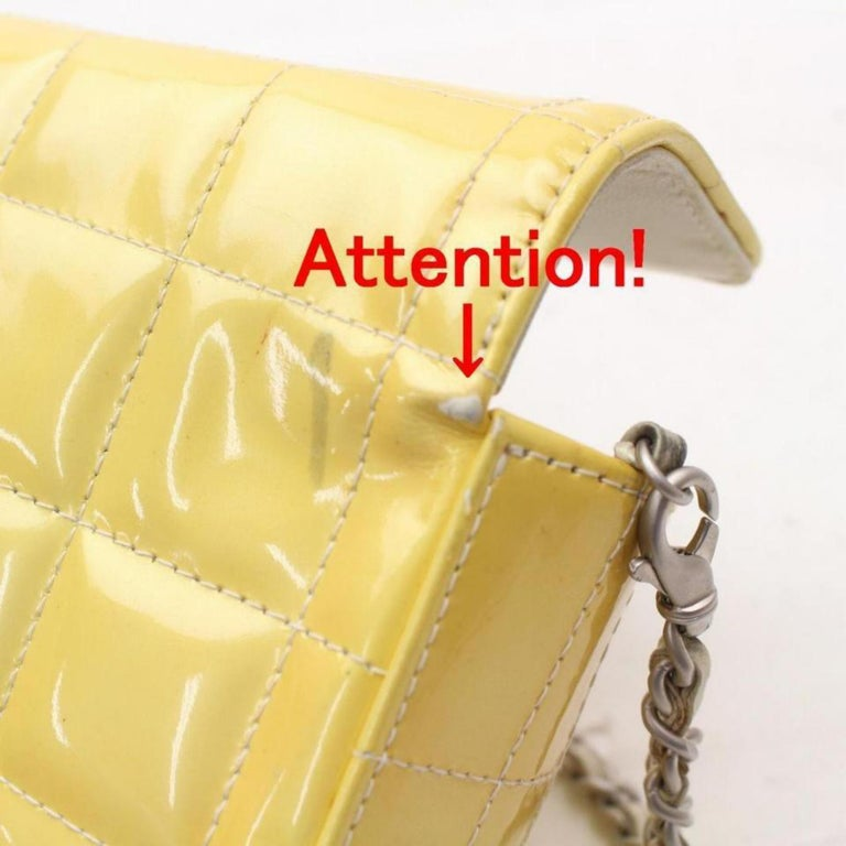 93c30ad7c2a1 Chanel East West Quilted Chocolate Bar Flap 869289 Yellow Shoulder Bag For  Sale 8