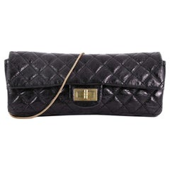 Chanel East West Reissue Clutch Quilted Glazed Calfskin Small