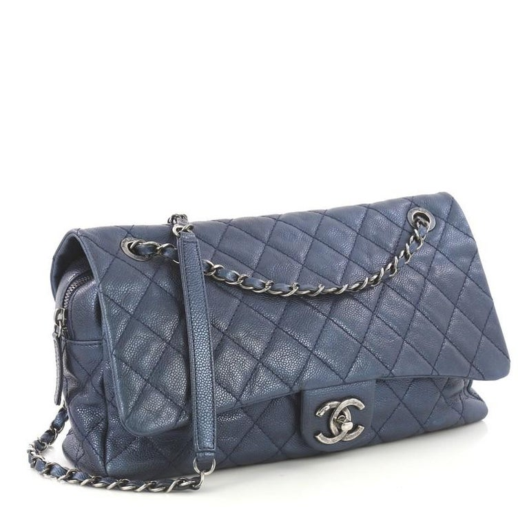 bd3a7ccc4eb5 Chanel Easy Flap Bag Quilted Caviar Jumbo For Sale at 1stdibs
