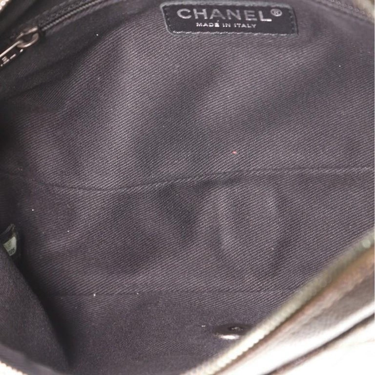Chanel Easy Flap Bag Quilted Caviar Medium For Sale 1