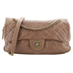 Chanel Easy Flap Bag Quilted Glazed Caviar Jumbo