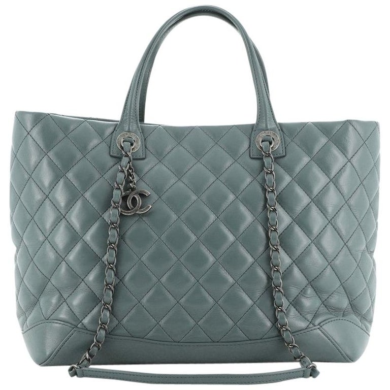 Chanel Easy Shopping Tote Quilted Calfskin Large For Sale