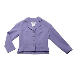 Chanel Eden-Roc Cruise Collection Purple Wool Jacket