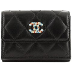 Chanel Egypt CC Trifold Wallet Quilted Lambskin