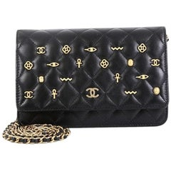 Chanel Egyptian Amulet Wallet On Chain Quilted Lambskin