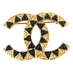 CHANEL Egyptian Gold And Rhinestone Brooch