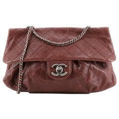 Chanel Elastic Flap Bag Quilted Glazed Caviar Medium