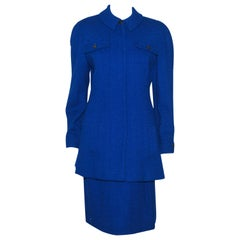 Chanel Electric Blue Skirt Suit From '97 Autumn Collection