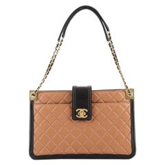 Chanel Elegant CC Tote Quilted Lambskin Large