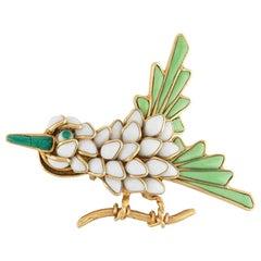 Chanel Embellished Bird Brooch