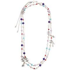 Chanel Embellished CC Logo Necklace