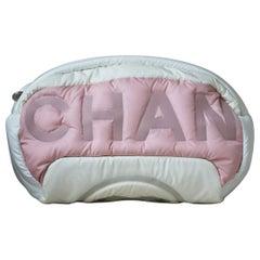 Chanel Embossed Nylon Waist Bag