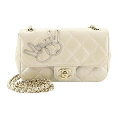 Chanel Emoticon Classic Single Flap Bag Quilted Lambskin Extra Mini