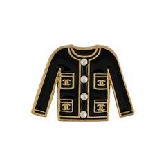 Chanel Enamel Jacket Brooch