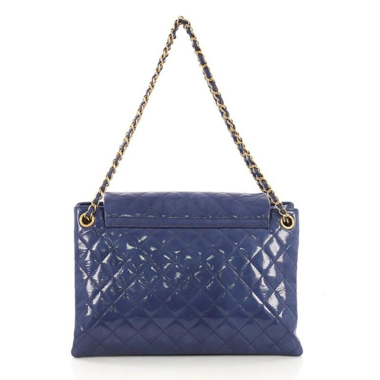 6022d2adb75868 Chanel Envelope Lock 3 Accordion Bag Quilted Goatskin Patent Medium at  1stdibs