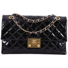 Chanel Envelope Lock 3 Bag Quilted Goatskin Patent Small