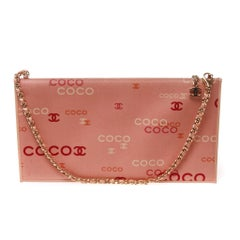 Chanel envelope pouch with coco graphic