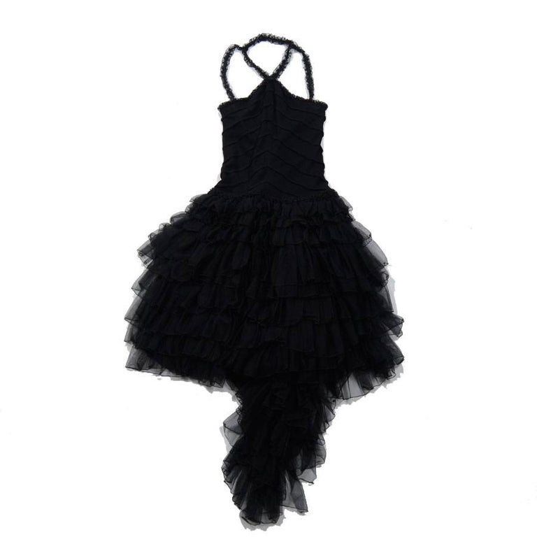 Chanel Cruise Collection Evening Dress with Black Ruffles, 2002