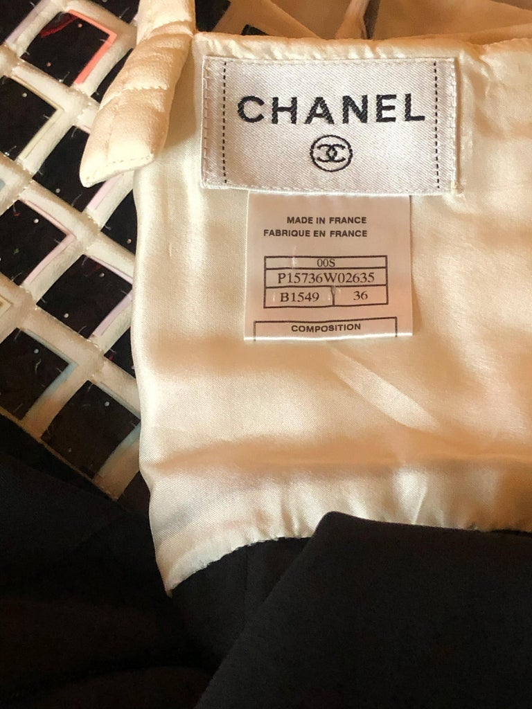 Chanel Evening Dress with Mylar Tiled Bodice and Draped Hem For Sale 1