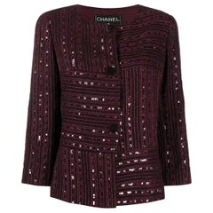 Chanel Evening Sequin Embellishment Jacket Crosier 2000s