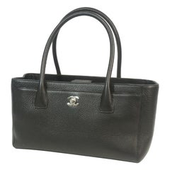 CHANEL Executive tote Womens tote bag A29292 black x silver hardware