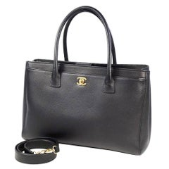 CHANEL Executive tote Womens tote bag black x gold hardware