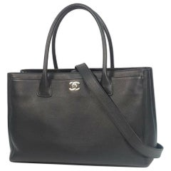 CHANEL Executive tote Womens tote bag black x silver hardware