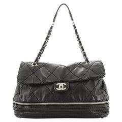 Chanel Expandable Ligne Flap Bag Quilted Calfskin Medium