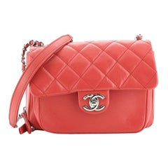 Chanel Express Zip Around CC Flap Bag Quilted Calfskin Small