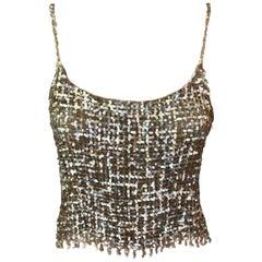 Chanel F/W 1999 Vintage Sequin Embellished Crop Top
