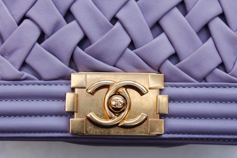 Chanel fabulous mauve leather bag, model Boy For Sale 5