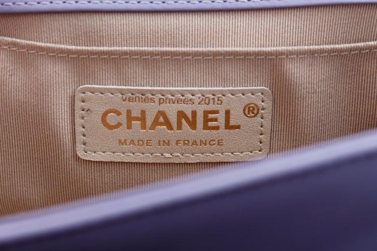 Chanel fabulous mauve leather bag, model Boy For Sale 6