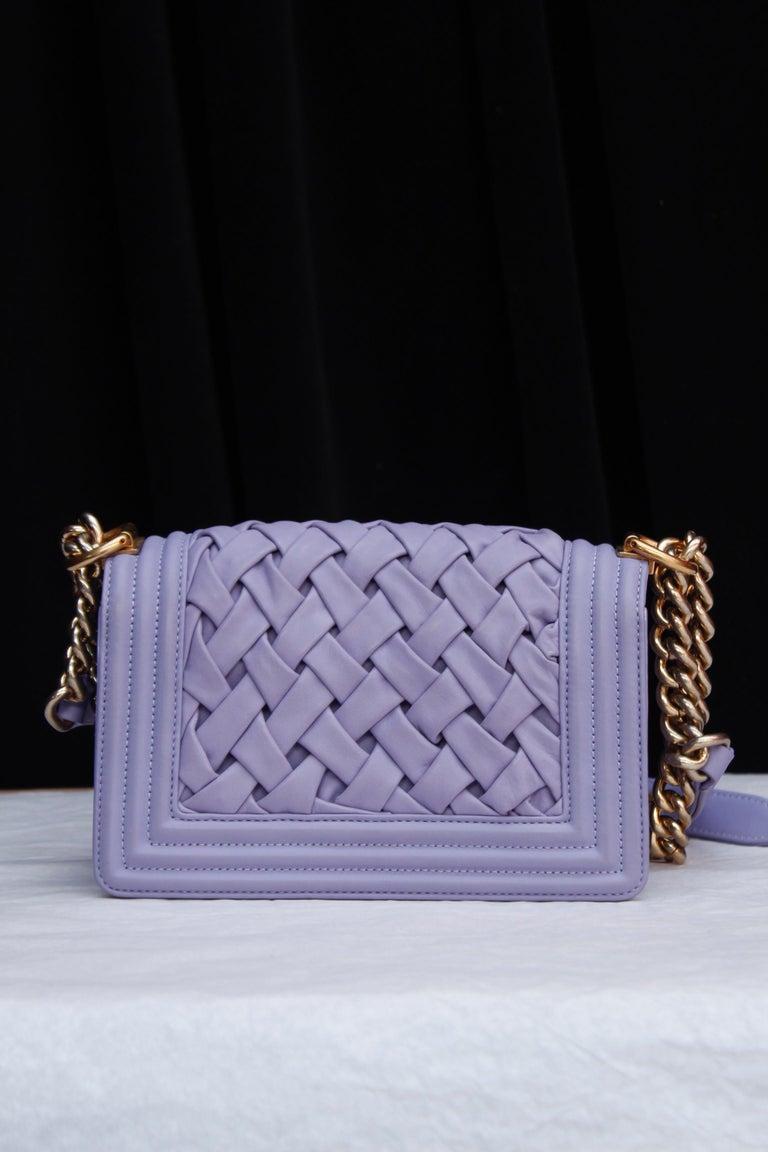 Women's Chanel fabulous mauve leather bag, model Boy