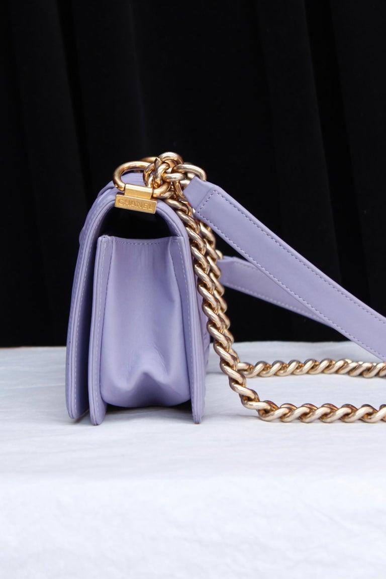 Chanel fabulous mauve leather bag, model Boy 1