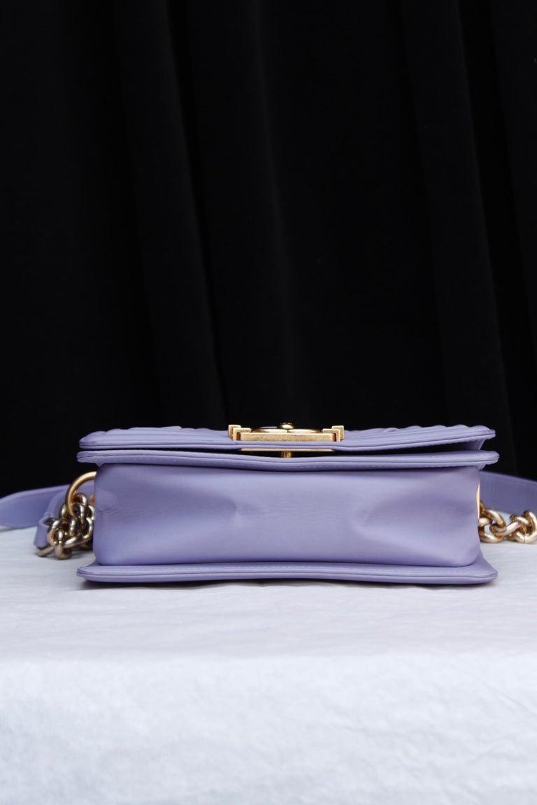 Chanel fabulous mauve leather bag, model Boy 2