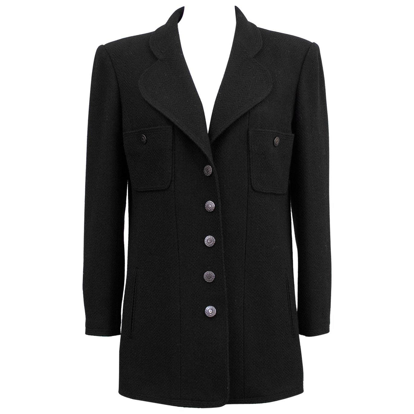 Chanel Fall 1997 Black Wool Jacket