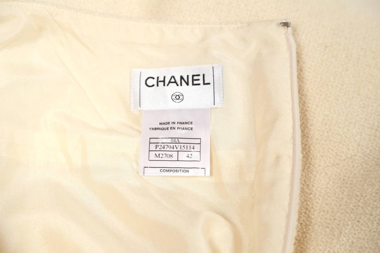CHANEL fall 2004 runway tunic skirt and matching coat in boucle wool - new For Sale 6