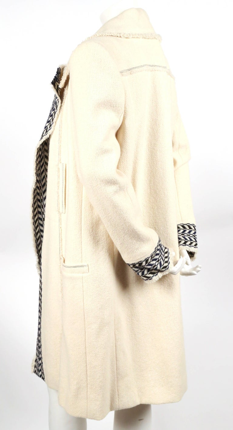 CHANEL fall 2004 runway tunic skirt and matching coat in boucle wool - new In New Condition For Sale In San Fransisco, CA