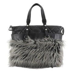 Chanel Fantasy Fur Tote Faux Fur with Leather Medium