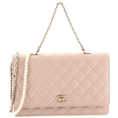Chanel Fantasy Pearls Flap Bag Quilted Lambskin Large