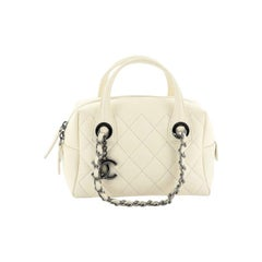 Chanel Feather Weight Bowling Bag Quilted Calfskin Small