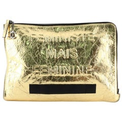 Chanel Feminine Pouch Crinkled Leather Large